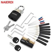 NAIERDI слесарные принадлежности ручные инструменты с тренировочным замком набор натяжных ключей сломанный ключ инструмент Комбинация навес...