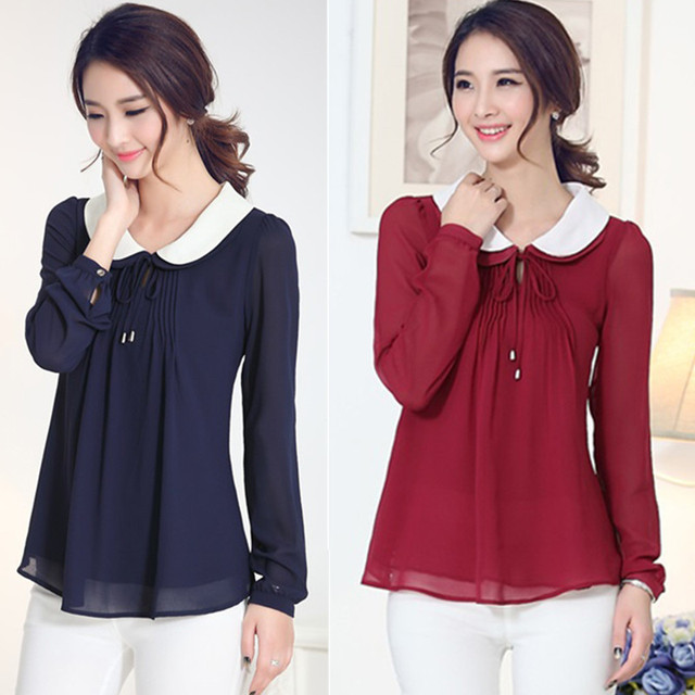 Aliexpress.com : Buy New 2015 summer women blouses long sleeve ...