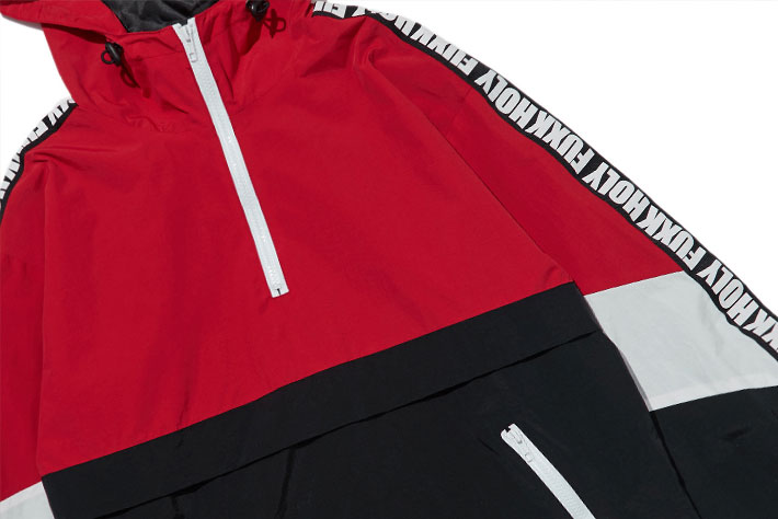 Patchwork Color Block Pullover Hooded Jackets 10