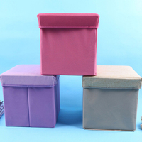 31*31*31 CM Square Multi functional Storage Box Linen Cloth Storage Chair Toys Organizer Sundries Storage Stool
