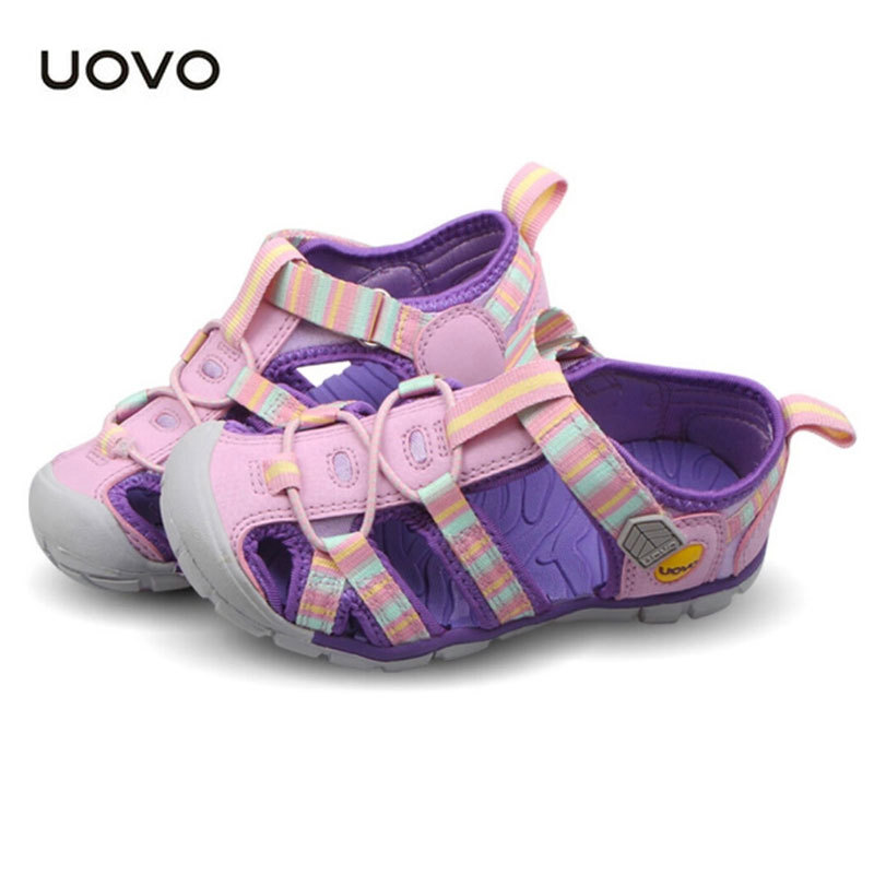 Brand Kids Sandals New Cutouts Garden Shoes Rainbow Sneakers Summer Shoes Children Boys Girls EU26-33 UOVO Brand Kids Sandals