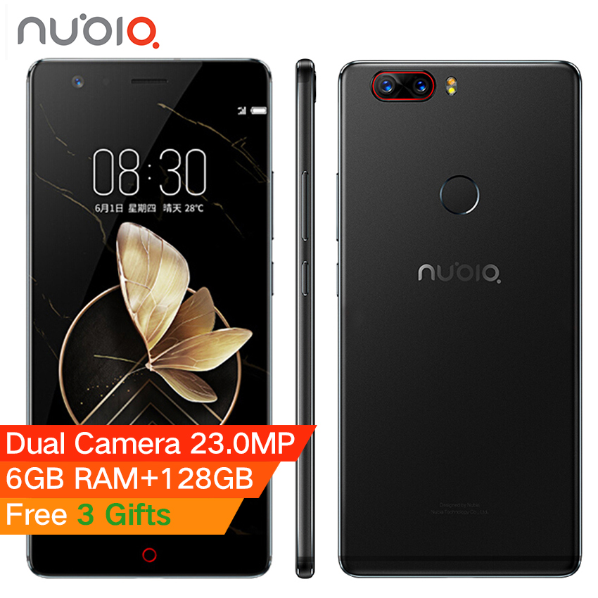 "bilder für Presell Original Nubia Z17 4G Randlos Handy 5,5 ""6 GB RAM128GB Snapdragon 835 Octa-core 23.0MP + 12.0MP Dual Rückseite Kameras"