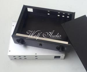 Image 4 - Новый серебристый и черный 2606A алюминиевый корпус, усилитель мощности, чехол, корпус усилителя DIY Аудио Amp Box