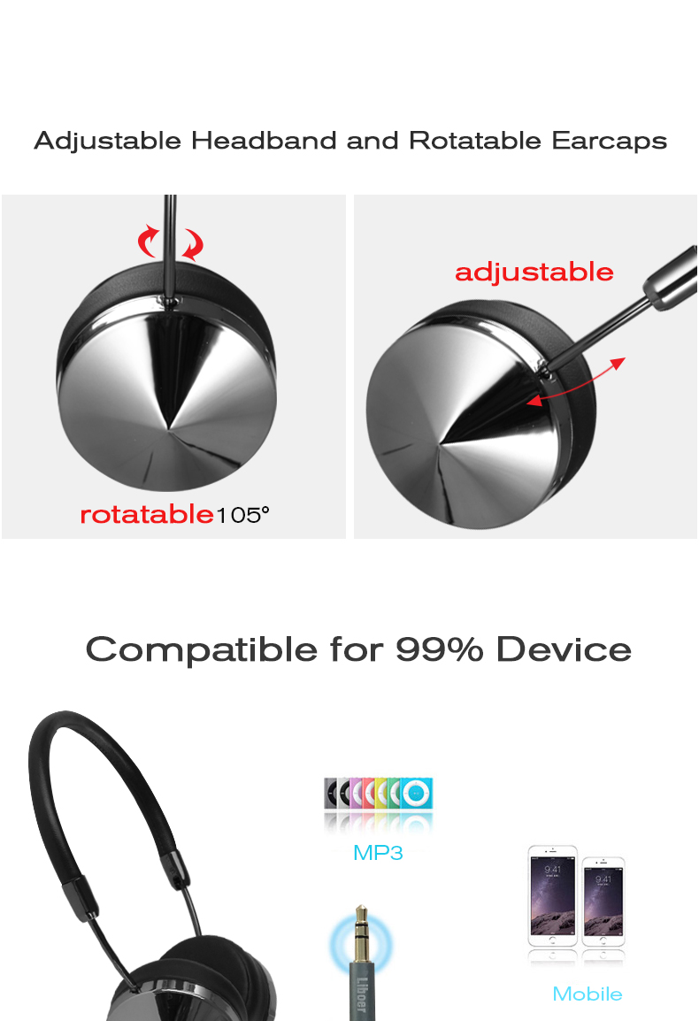 Fashion Rose Gold Wireless Bluetooth Headset Headphone with Microphone Stylish On Ear Share Headphone for Women Girl Liboer BT88 13