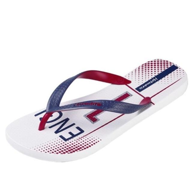 fda005b2c5c237 New Men Shoes Sandals Fashion Flip Flops USA England FC Barcelona Summer  Slippers Beach Non-slip Pool Shower Slides