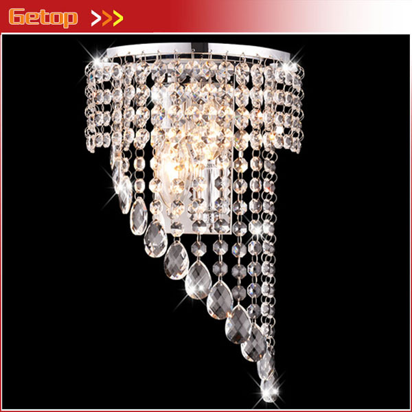 цены Best Price Bedroom K9 Crystal Wall Lights Wall Sconce Hallway Lights E14 LED Crystal Wall Lamp lustres de cristal Lighting