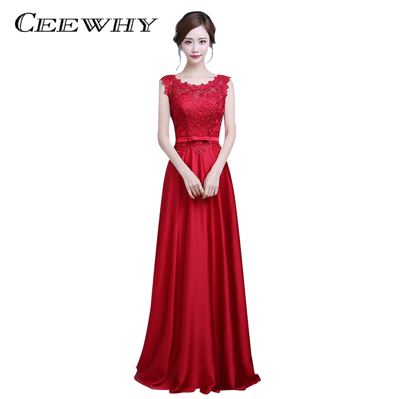 CEEWHY Burgundy Embroidery Formal Occasion Dress Robe De Soiree Banquet Evening Dresses Long Party Prom Dresses