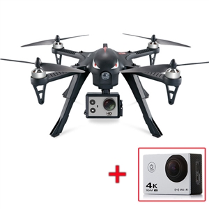 MJX Bugs 3 3D Rotolo Brushless RC Quadcopter RTF 2.4 GHz con AT-30 4 K Fotocamera