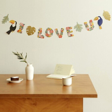 Pineapple Flamingo Garland Bunting Banner Flags Garden Home Wedding Party Festival Event Decoration Photo Prop