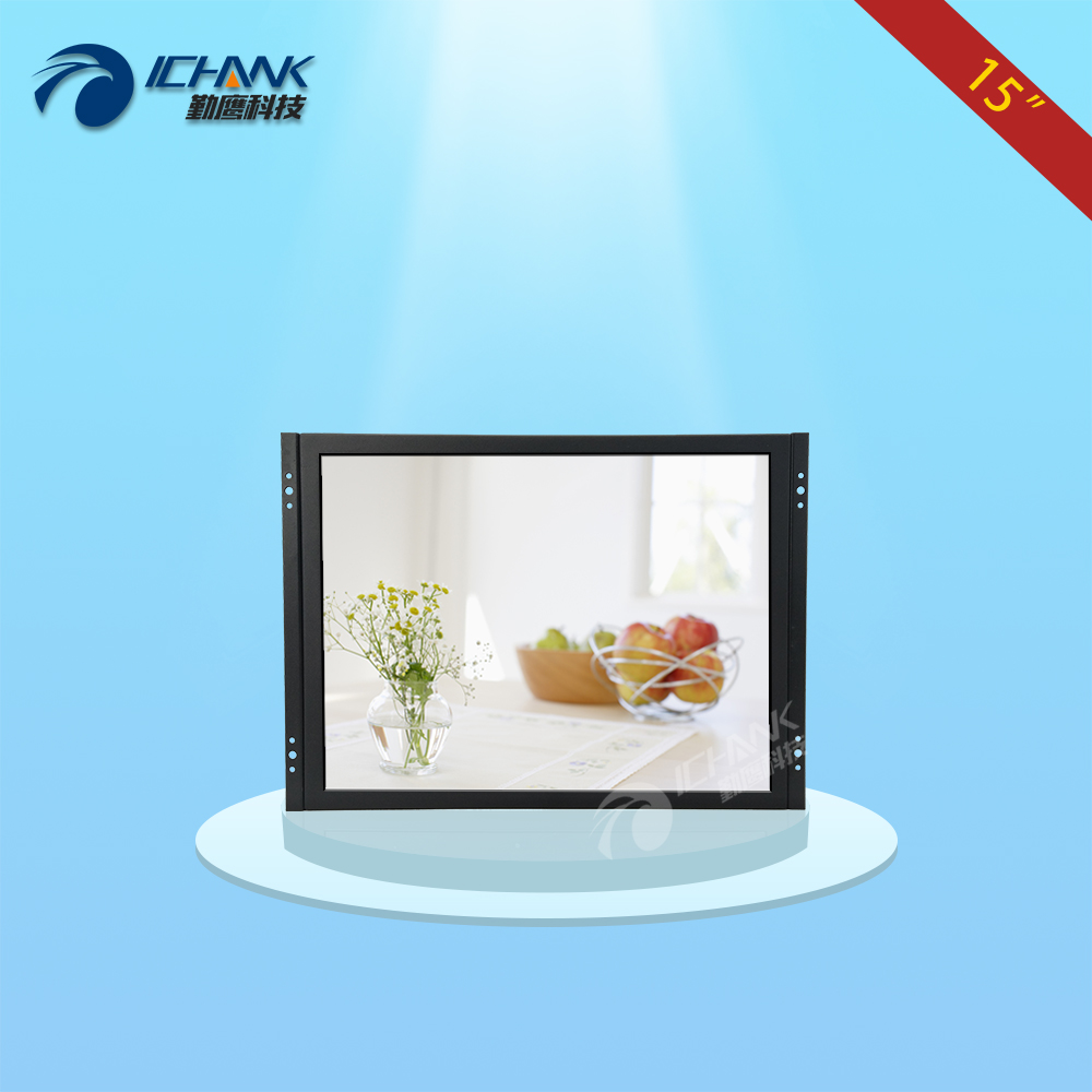 ZK150TN-V59/15 inch 1024x768 BNC HDMI VGA Metal Shell Embedded Open Frame Wall-mounted Remote Control Monitor LCD Screen Display bnc tv interface non touch screen open frame lcd industrial control monitor display with 15 6 inch metal frame page 4