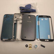 Oryginalna pełna obudowa środkowa rama + tylna pokrywa + wymienna soczewka szklana części do Samsung Galaxy S4 i9505 i9500 i9506 i337