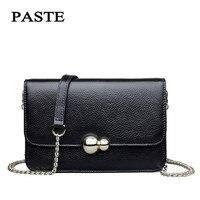 European Style 2017 Summer New Head Layer Cowhide Leather Handbag Crossbody Bag Mini Fashion Chain Bag