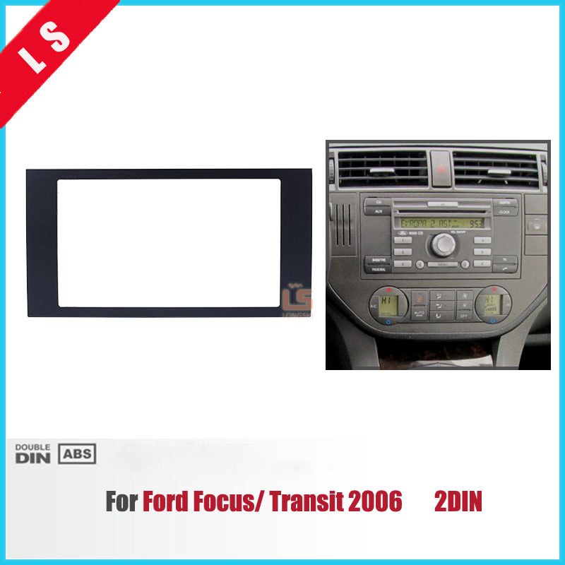 2 DIN Audio Frame Car Refitting DVD Panel Dash Kit Fascia for 2004-2008 Ford Focus Transit Double DIN Radio Frame Fascia,2DIN 2 din carro fascia car fascia panel audio panel frame car dash kit for mitsubishi outlander 2007 2013 free shipping