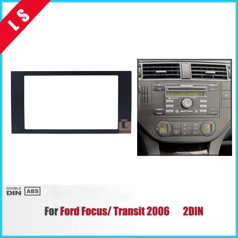 2 DIN Audio Frame Car Refitting DVD Panel Dash Kit Fascia for 2004-2008 Ford Focus Transit Double DIN Radio Frame Fascia,2DIN