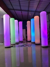 Led lights decoration standing inflatable Column for Wedding event,party,stage and Night bar