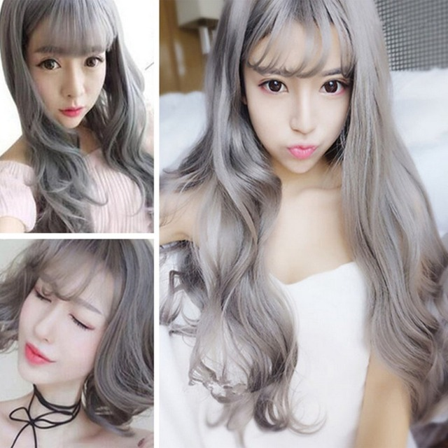 100g Gray Hair Dye Smoky Gray Punk Style Hair Coloring Natural Plant ...