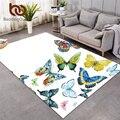 Постельные принадлежности Outlet Flying Butterfly области ковер прямоугольник большой ковры для спальни весна печать декоративный пол домашний ковр...
