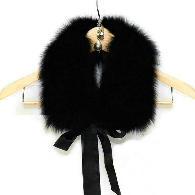 Freeshipping Manufacturers Selling Ribbon Fox Collars Coat Collar