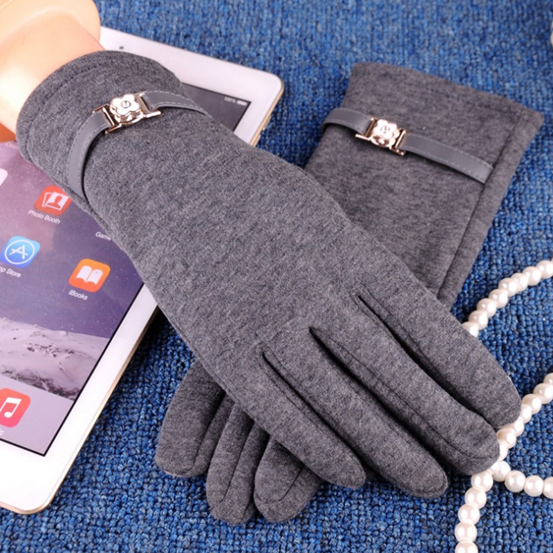 NAIVEROO Waterproof and Warm Touch Screen Gloves made of PU Leather and Conductive Fibers for Women Suitable for Spring and Winter 49