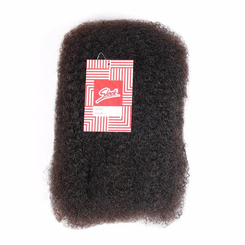 Sleek 3pcslot Tight Afro Kinky Bulk Hair 100% Human Hair For Dreadlocks, Indian Hair Kinky Twist hair in Bulk Natural Color  (3)