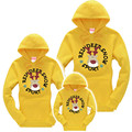New family matching outfits family Christmas clothing mother & kids sweatshirt hoodies plus fleece tops for family look clothes