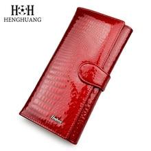 цены  New Genuine Leather Women Wallets Alligator Grain Vertical Hasp Ma'am Coins Card Holder Purse Multifunction Long Clutch Bag