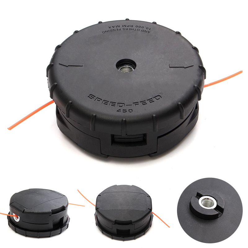 Black Garden Trimmer Head Lawn Mower Nylon Line Replacement String Trimmer Head for Garden Tools MAYITR 30pcs replacement lawnmower blades with screws for auto mower grass trimmer blade garden tools mayitr