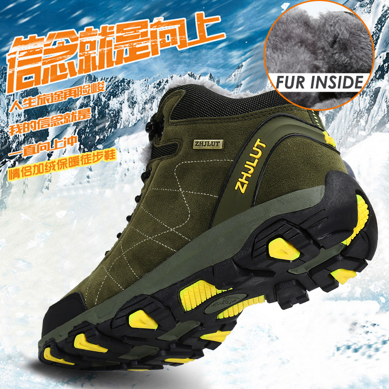 Autumn Winter Mens Hiking Boots Women's Sneakers Mountain Climbing Shoes Tactical Hunting Footwear New Classic Outdoor Sport Man