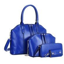 2016 Hot Sale New Composite leather Bag Women Handbag Shoulder Cross Body Bag Handbag+Messenger Bag+Purse+Wallet 4 Sets F362