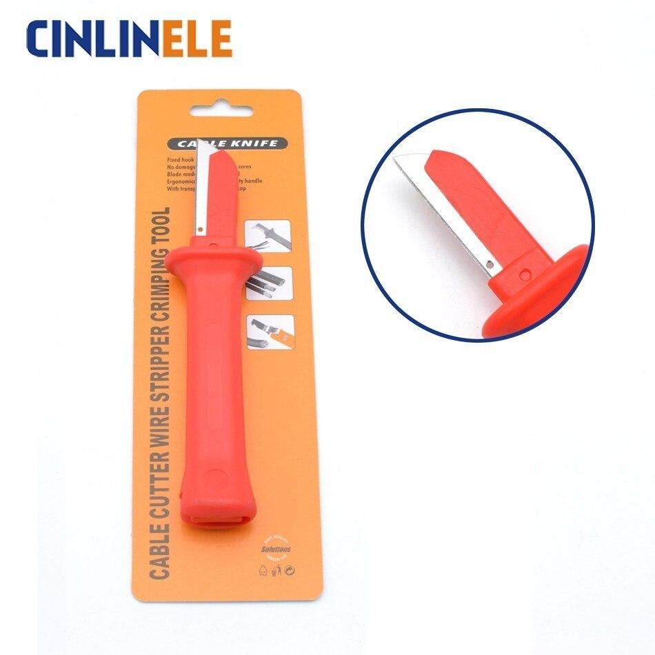 Offen Freies Verschiffen 35hs Deutsch Stil Kabel Messer Kabel Stripper Patent Abisolieren Werkzeuge Zangen Klinge Länge 50mm Exquisite Paket Handwerkzeuge