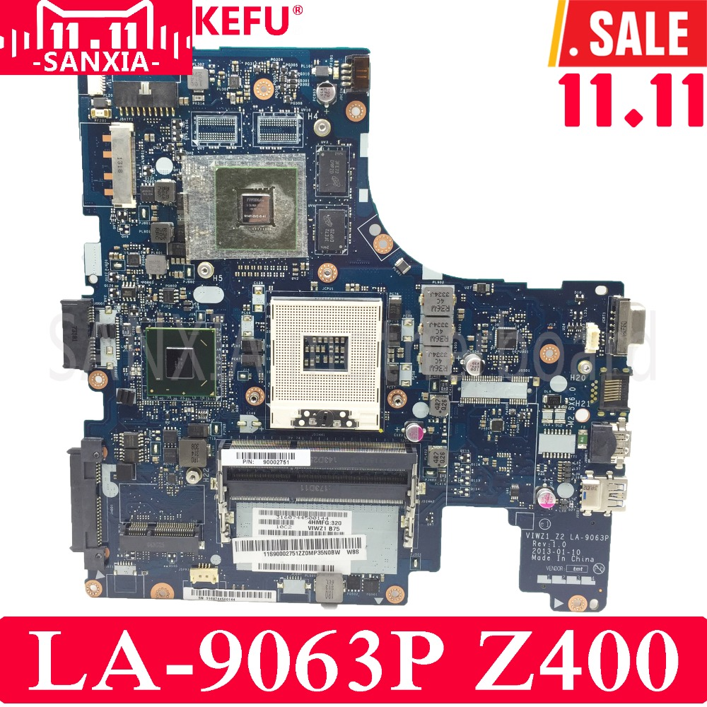KEFU VIWZ1_Z2 LA-9063P Laptop motherboard for Lenovo Z400 Test original mainboard PM цена