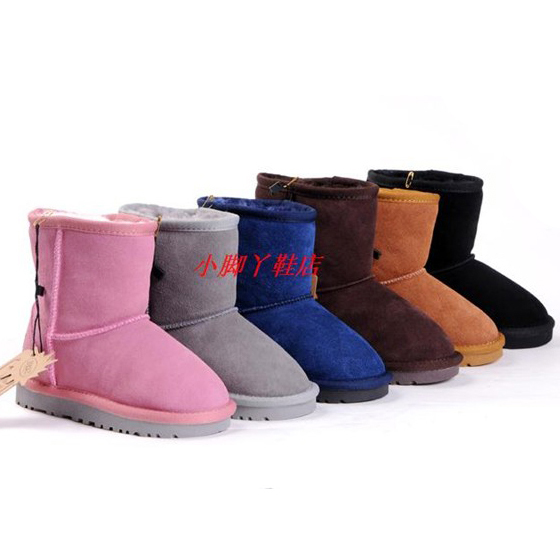 Child winter snow boots Boys girls child cowhide shoes cow muscle slip resistant genuine leather kids