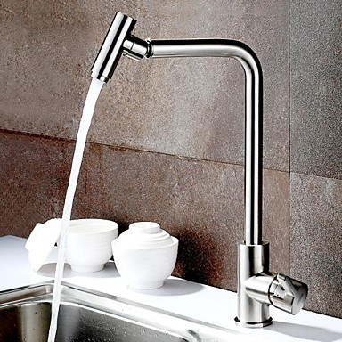 Contemporary Rotatable Brushed Finish Pull Out Kitchen Sink Faucet Mixer Tap Torneira Para Pia Cozinha Grifo