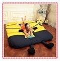 Fashion Milions double bed yellow men tatami kids sofa bed 5ft x 6.6ft cartoon lazy sofa