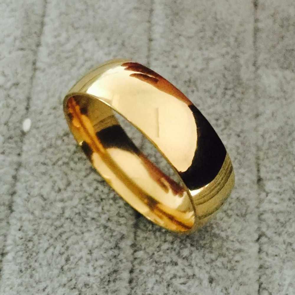 人気の高品質ヴィンテージメッキリング結婚式婚約指輪のための女性/男性ステンレス鋼ジュエリー無料ショッピング