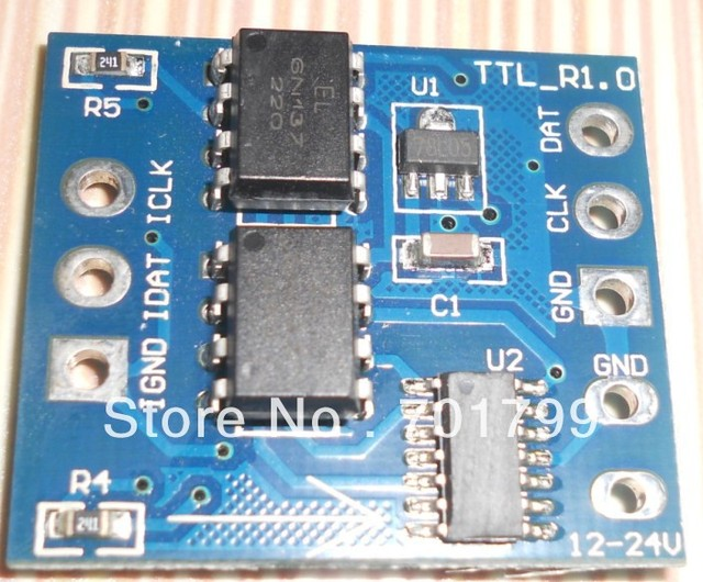 TTL signal amplifier,DC12-24V input, to amplifier the signal from T-1000S,T-100K,T-200K.etc,for pixel lights