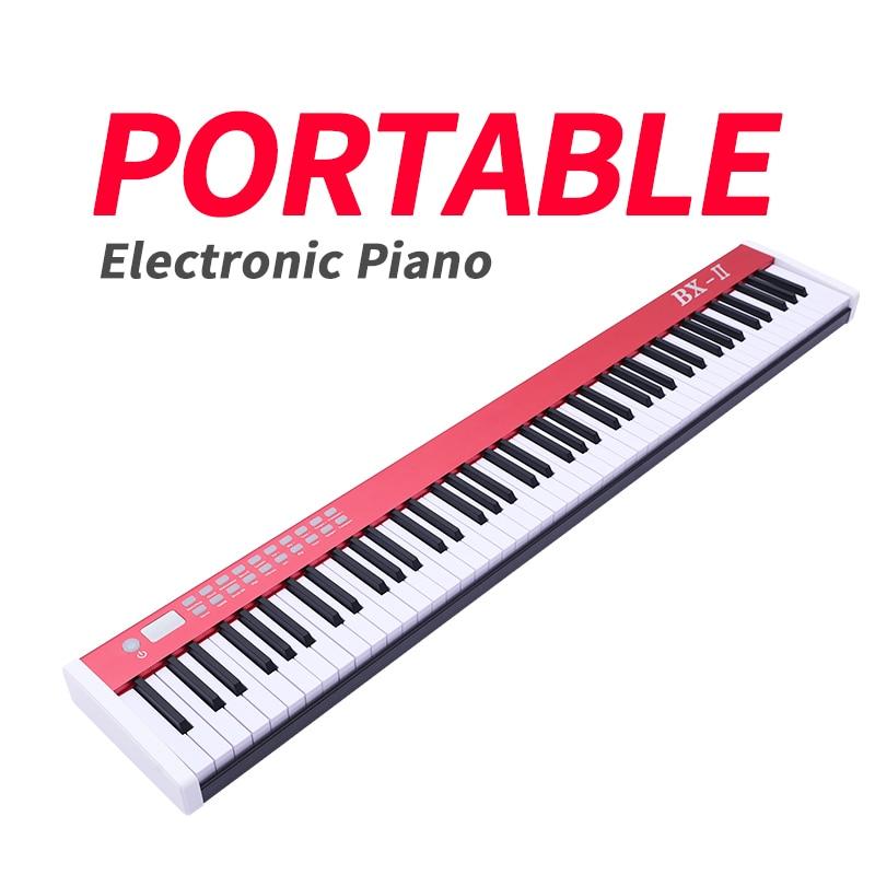 Portátil 88 chave grand piano eletrônico para biggner crianças adulto instrumento musical profissional