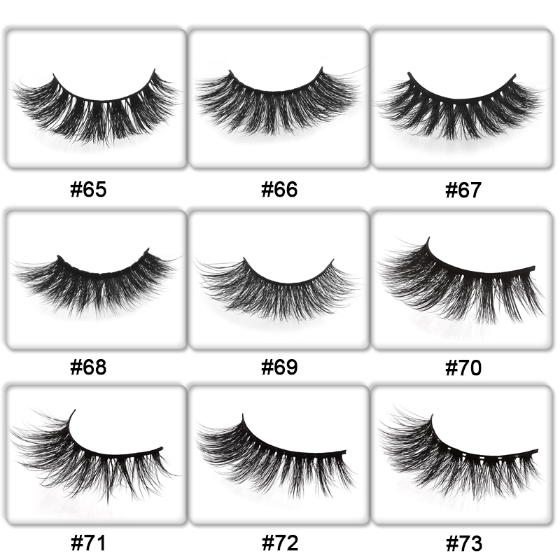 100 pairs mink false eyelashes with tray no box wholesale private packaging optional style 3D mink lashes natural long package