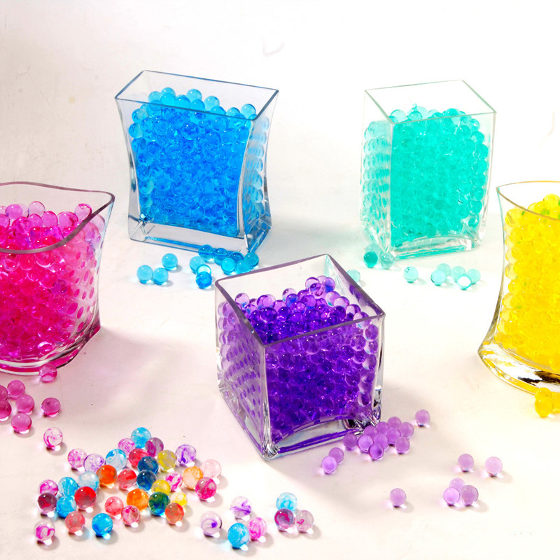 10000 Pc /lot Pearl Shaped Crystal Soil Water Beads Mud
