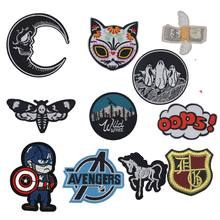 1Pcs Evil Umbrella Avengers Patches Money Horse Appliques Moive Frog Skeleton Cat Batman Embroidery Badge Clothing Accessory(China)