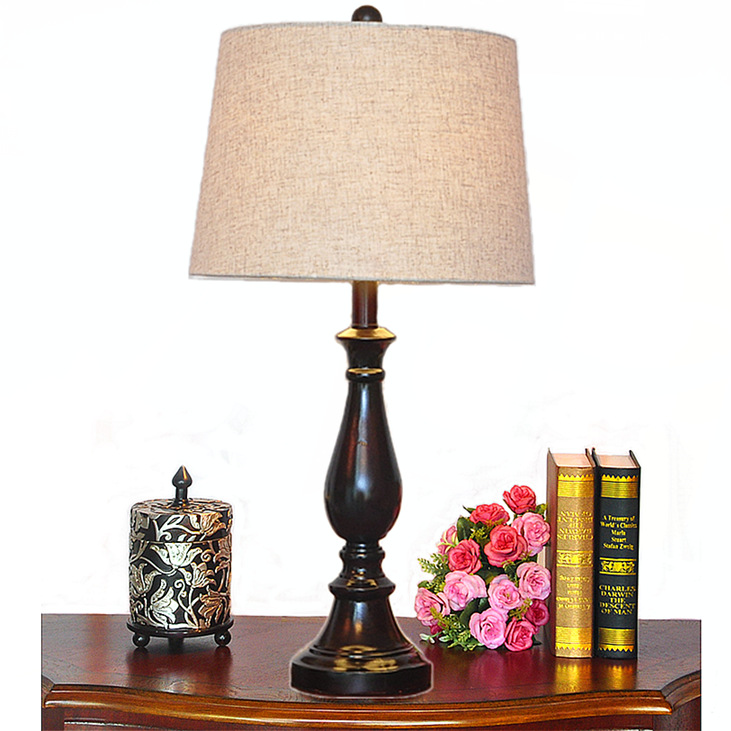 TUDA Free Shipping Brown Resin Table Lamp American Style Table Lamp LED Desk Lamp For Living Room Study Room E27 110V-220V resin assembly kits 1 9 200mm police girl 200mm unpainted kit resin model free shipping