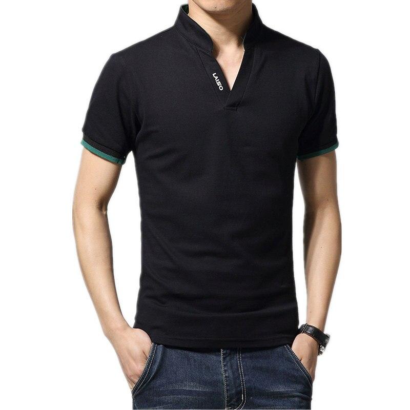 2019 New Arrival Cotton Men Polo Shirt Tops Fashion Brand Plus Size Short Sleeve Black White Polo Shirt Homme Camisa 5XL