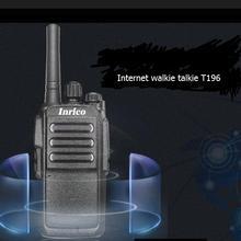 2 pièces carte SIM internet walkie radios T196 puissant 5000mah batterie 16 canaux internet talkie walkie sans limite de distance de conversation