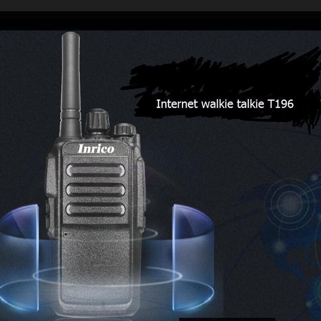 2pcs SIM card internet walkie radios T196 powerfull 5000mah battery 16Channel internet walkie talkie no talk distance limit