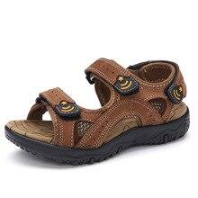 2017 Été nouveaux enfants sandales garçons de haute qualité chaussures confort dérapage sandales enfants peu grand garçon plat talons plage sandales