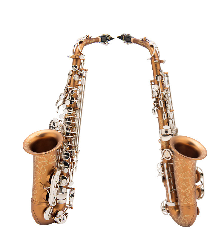 Professional Brass font b Saxophone b font Sax Eb Mouthpiece With Case Accessories