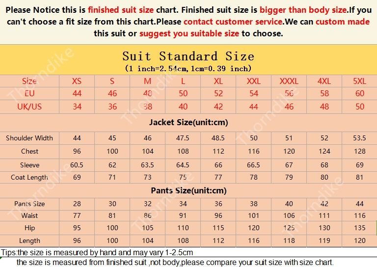 Thorndike Red 3 Piece Suits Mens
