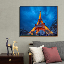 Tower Night in Paris Danceation Wall Art Canvas Painting Calligraphy Poster Print Decorative Picture for Living Room Home Decor