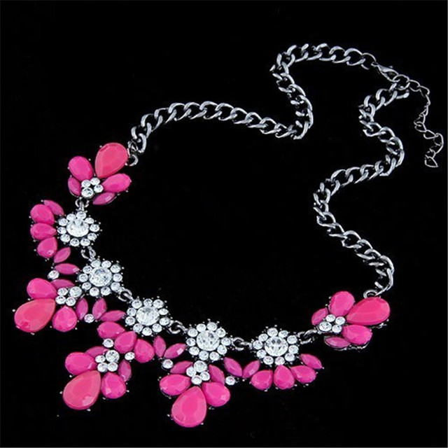 Women Crystal Maxi Statement Necklace