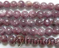4mm 6mm 8mm 10mm Naturel Pourpre mica Perles Rondes 15.5''